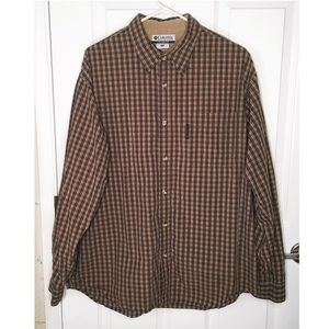 Columbia Brown Button Down Shirt Size XL